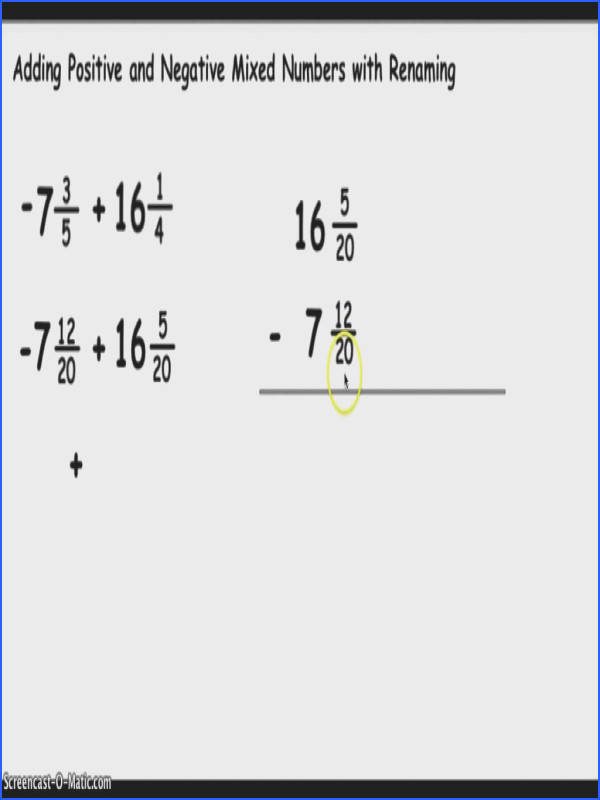 Dividing Fractions With Whole Numbers Worksheet Adding Positive And Negative Mixed Youtube By Pdf Unit