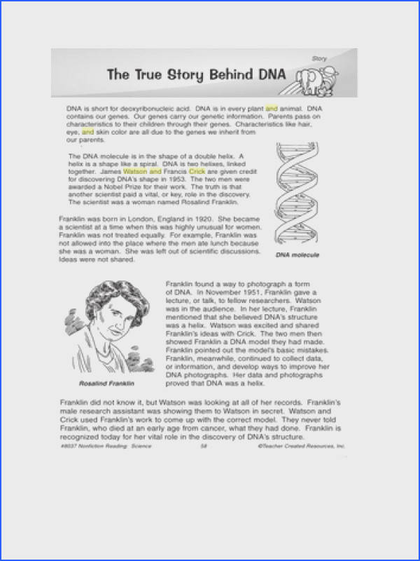 A prehension worksheet on the discovery of DNA I m using it to help prepare my students for their Cambridge National award but could be relevant to