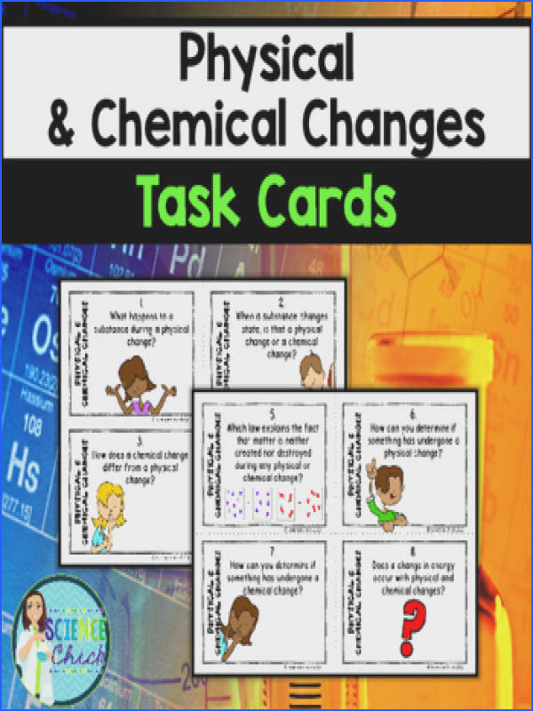 Do your students need extra practice with physical & chemical changes With these task cards
