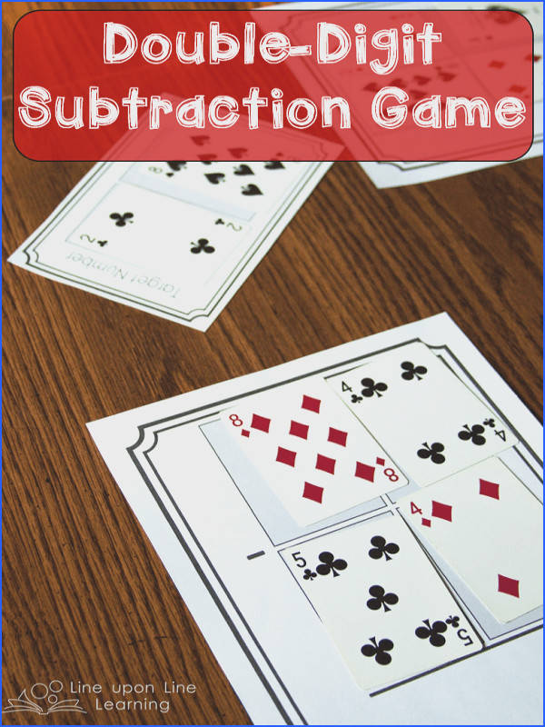Double Digit Subtraction Card Game