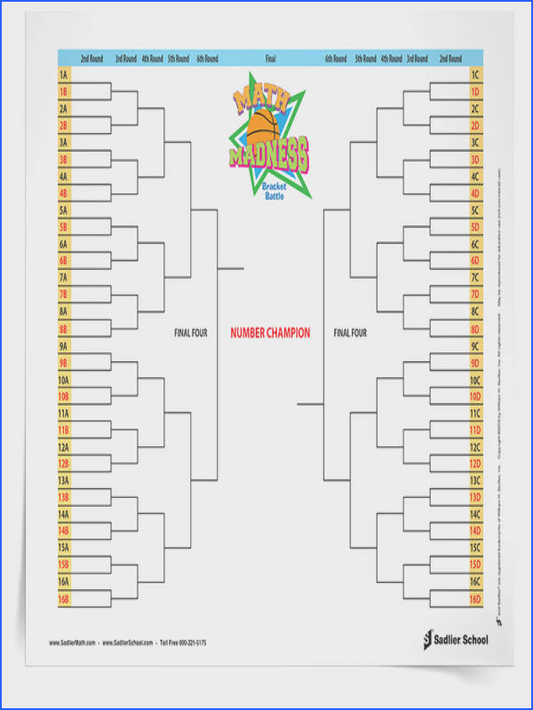Download the March Madness math worksheets so students can participate in the bracket battle fun Students will use knowledge of place value to pare
