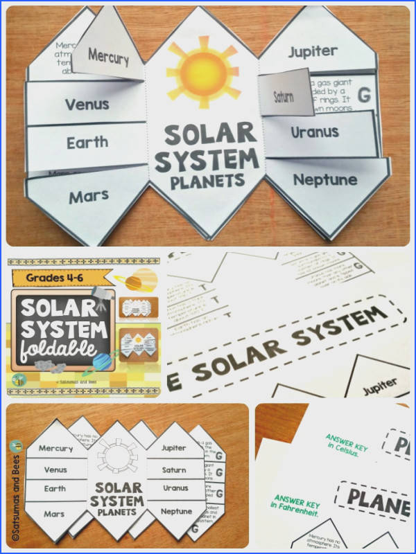 e of a kind solar system foldable to learn or review facts about planets This
