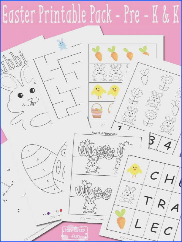 Easter Printable Preschool and Kindergarten Pack Itsy Bitsy Fun