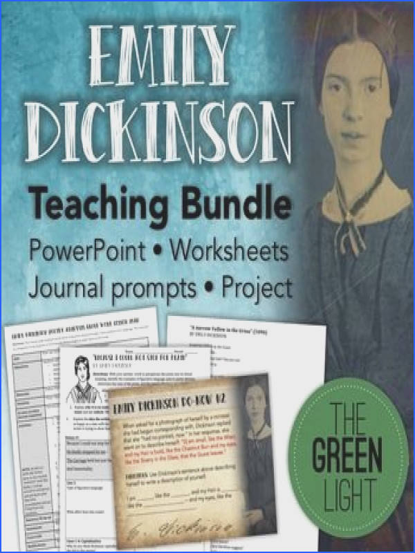 Emily Dickinson Poetry Worksheets PowerPoint Project and Journal Prompts
