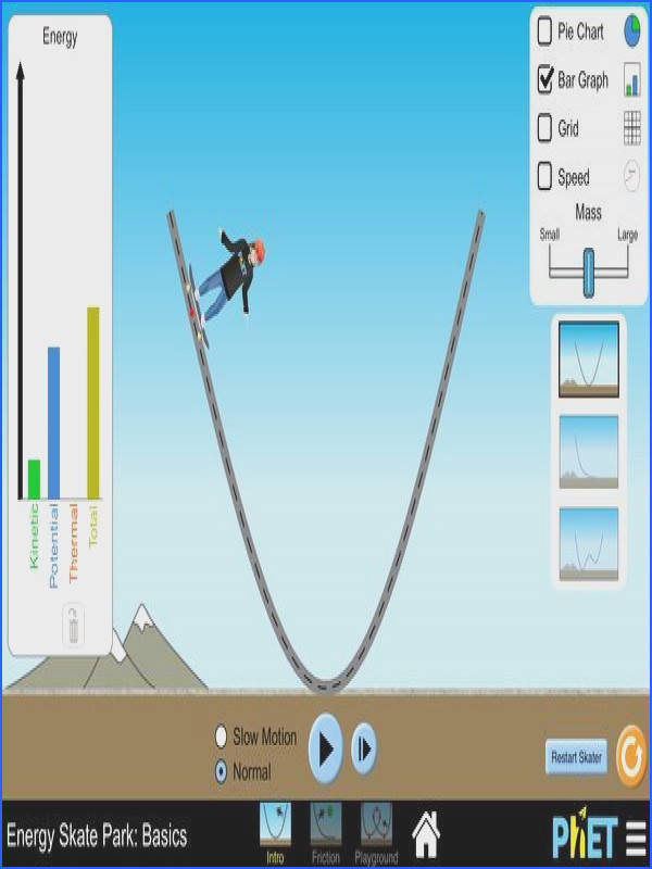 Energy Skate Park Virtual Lab kinetic energy potential energy and conservation of energy Force and Motion Pinterest