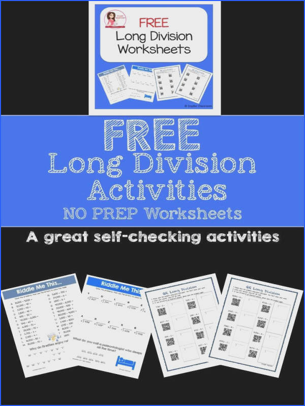 Engage your students while practicing Long Division putation This FREE has 2 math riddle
