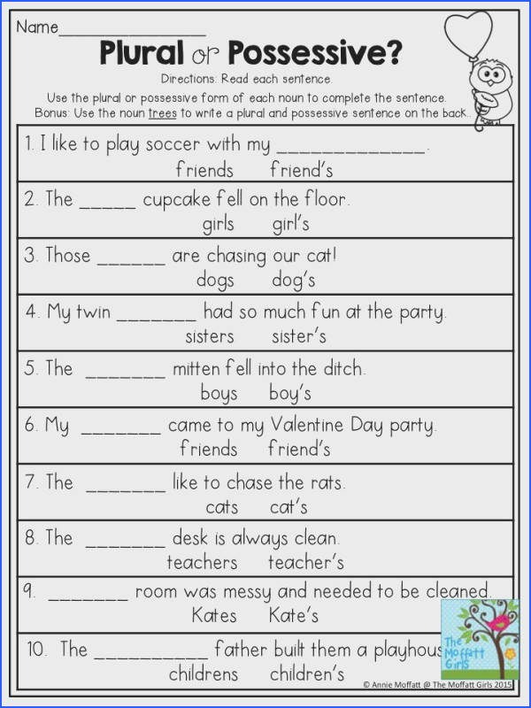 Ultimate English Grammar Worksheets For Grade 4 Nouns For Your Plural Possessive Use The