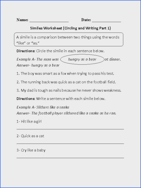 These similes worksheets are great for working with similes Use these similes worksheets for the beginner and intermediate levels