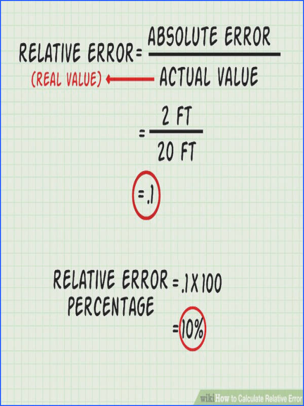 How To Calculate Relative Error 9 Steps With Wikihow