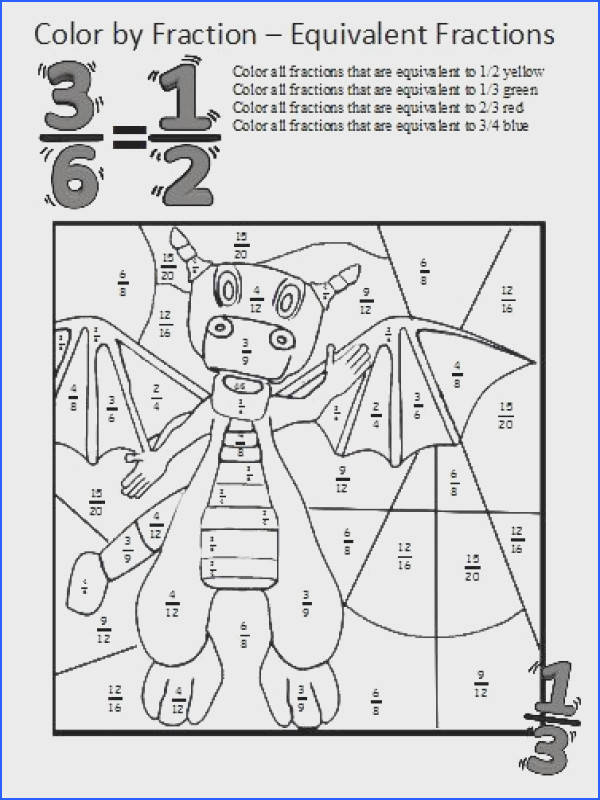 Equivalent Fractions Worksheets ese coloring sheets make learning about equivalent fractions fun