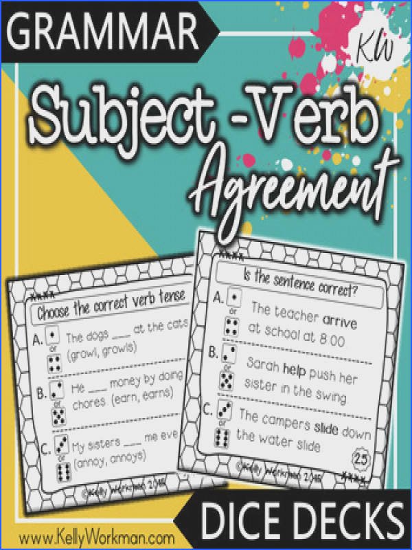Subject Verb Agreement Game Subject Verb Agreement Game