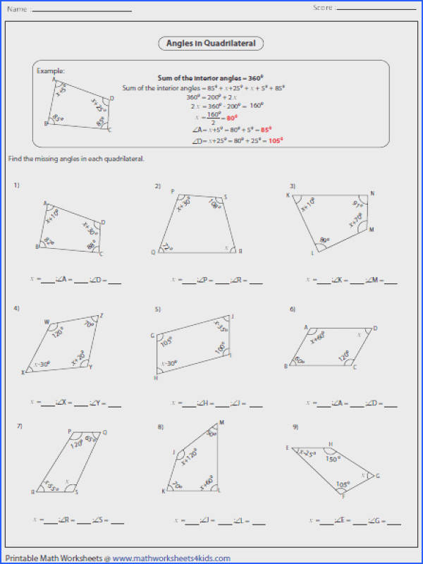 NAME GEOMETRY UNIT NOTE PACKET Polygon information Homework Topics