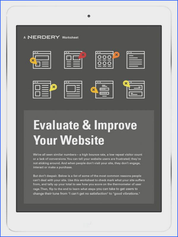 Evaluate & Improve Your Website Worksheet Portfolio Pinterest
