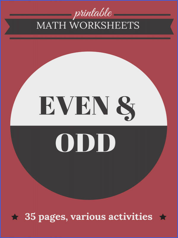 Even and Odd Number Worksheets Assessment and Activities for Kids Identifying Numbers Facts