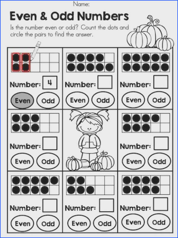 Even and Odd Numbers Great primary math worksheet Follow up with skip counting by 2 s Math Pinterest