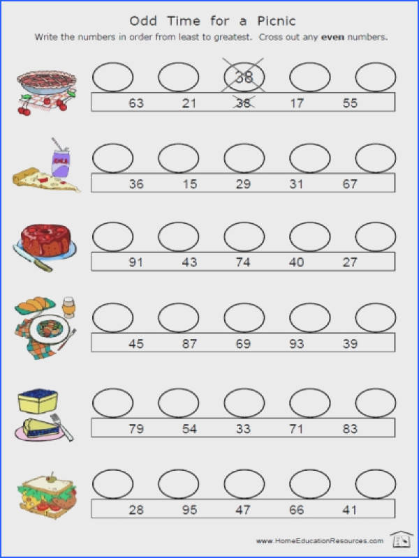 Even And Odd Worksheets For 2Nd Grade Worksheets for all Download and Worksheets