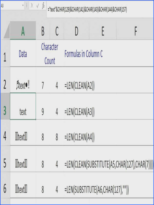 excel clean substitute char function remove characters TedFrench 5ab2e3e9a18d9e0037ede4c0