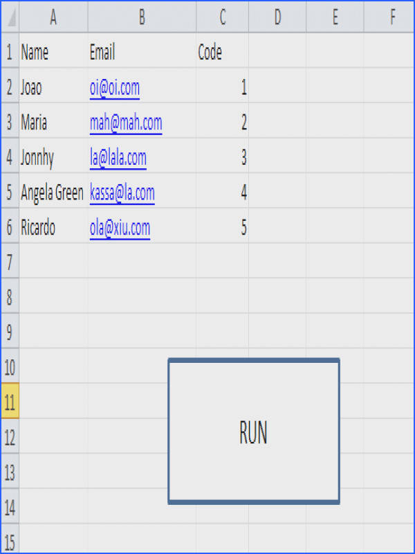 This is my table I do not want to select the cells everytime I run