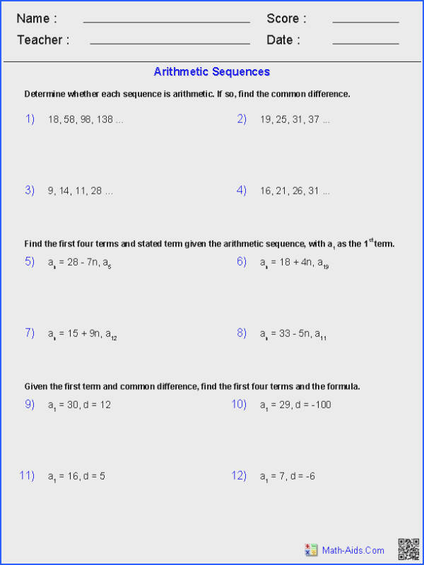 Exponential Equations Not Requiring Logarithms Worksheets Image Below Geometric Sequence Worksheet