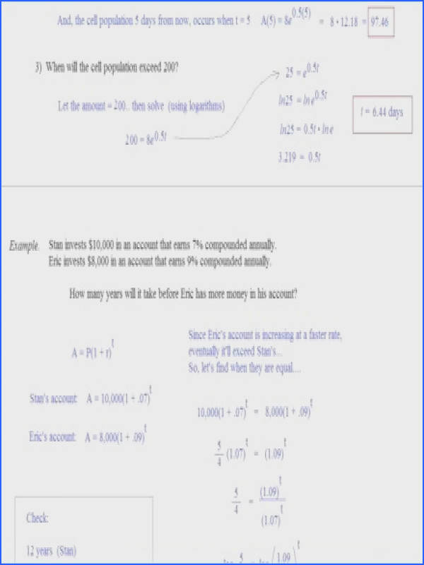 41 Exponential Growth And Decay Worksheet Exponential Growth