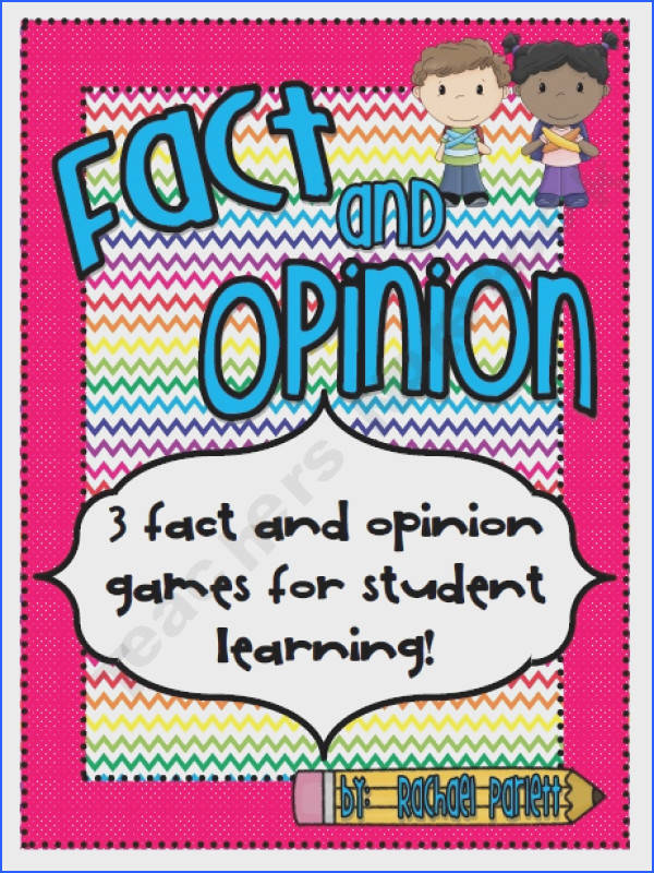 Three Fact and Opinion Games with Recording Sheets