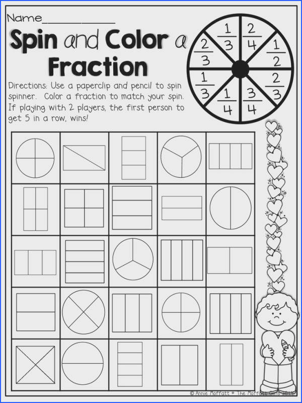 Spin and Color a Fraction What a fun way to learn and practice fractions