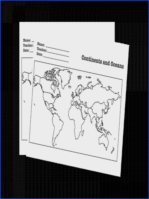 Maps Continents Oceans