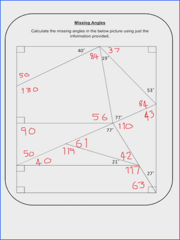 Fair Finding Missing Angles In Quadrilaterals Worksheet Tes With Additional Missing Angles By Prescotmaths Teaching