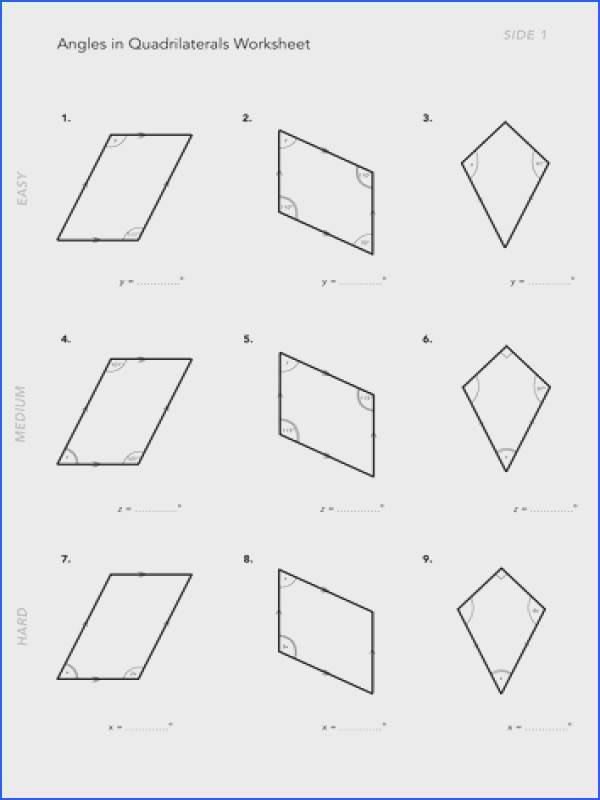 Transform Finding Missing Angles In Quadrilaterals Worksheet Tes Angles In Quadrilaterals By Jwmcrobert Teaching