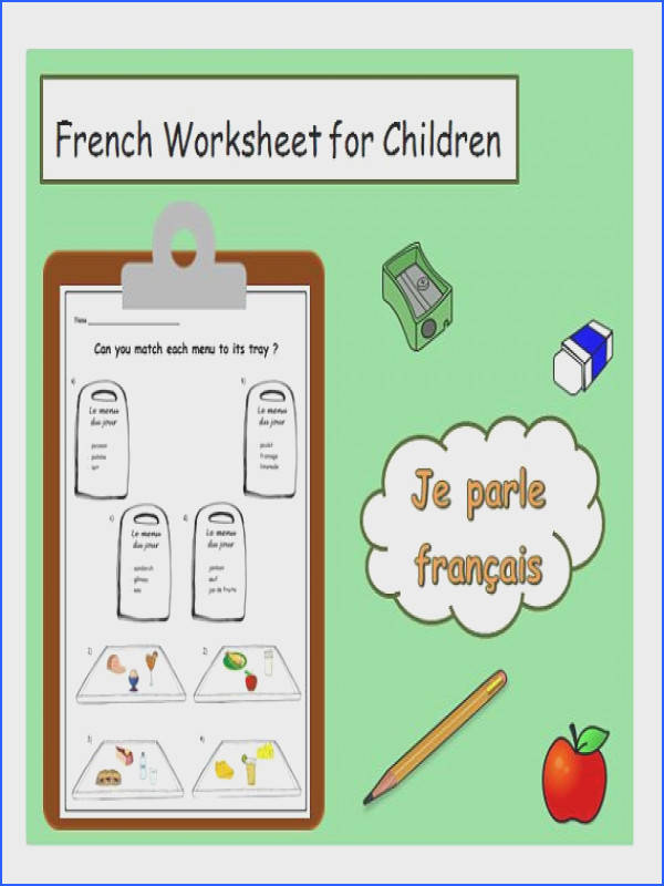 Food Menu FRENCH PRINTABLE French Teacher Resource Learning