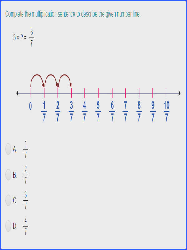 Multiply Unit Fractions by Whole Numbers Using Number Lines