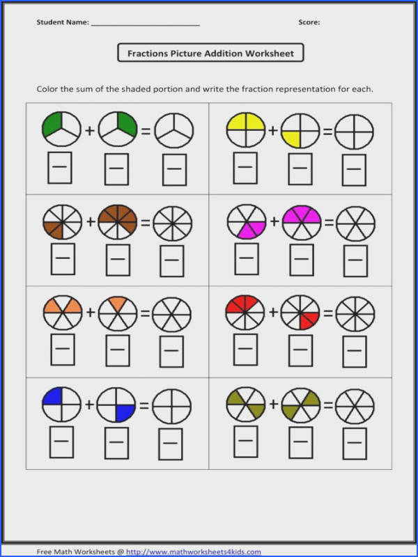 Fractions A Group Worksheets Worksheets for all Download and Worksheets