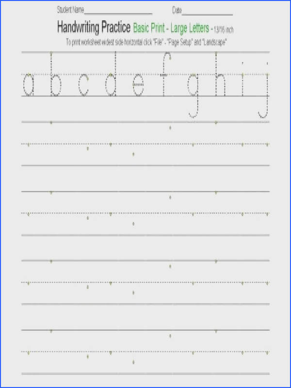 Free Customizable Handwriting Worksheets