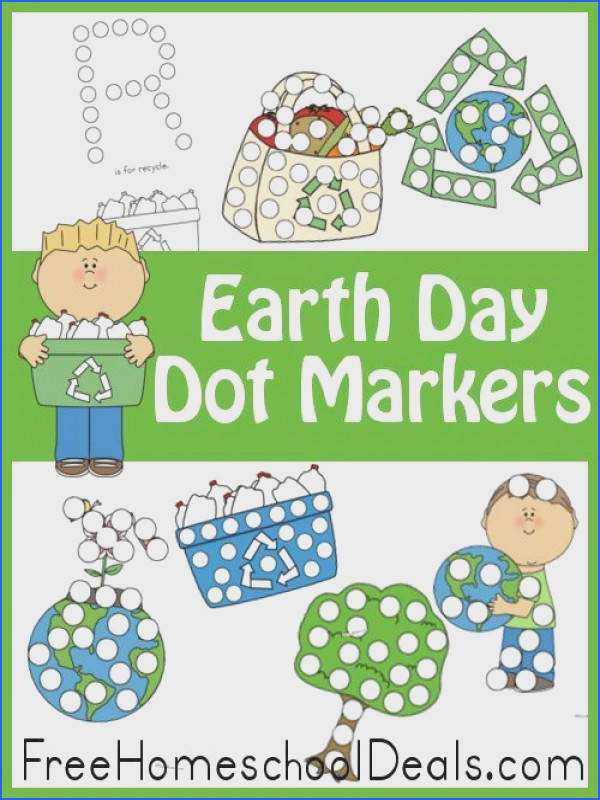 free dot marker printables for Earth Day