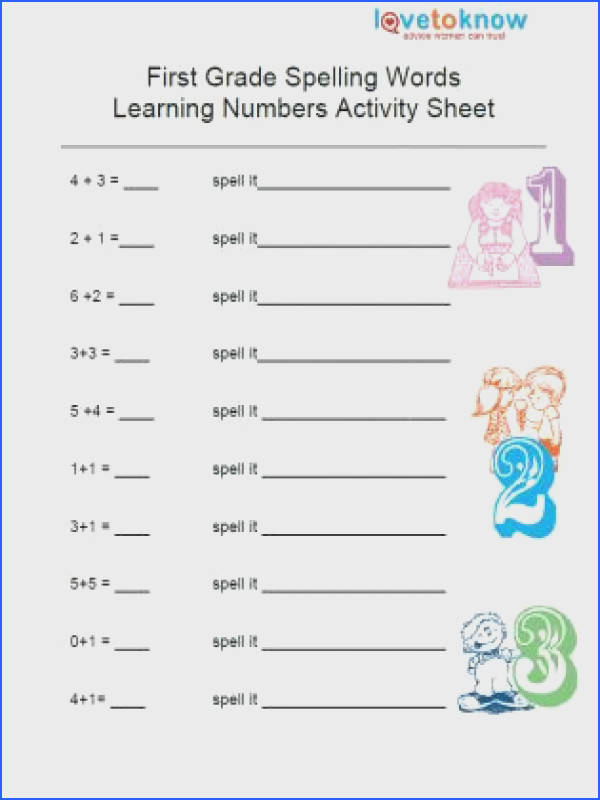 Free First Grade Worksheet Worksheets for all Download and Worksheets