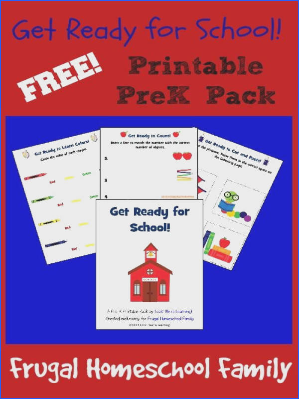 Free Get Ready for School Printable Pack