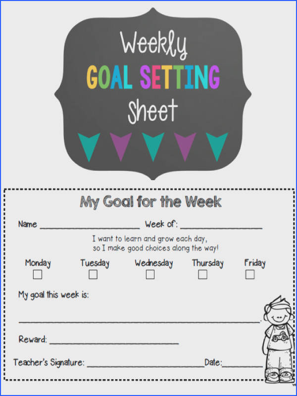 FREE goal setting sheets Set goals for your students Monthly Goal and Weekly Goal