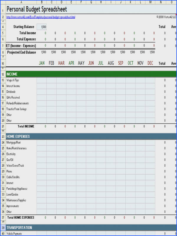 Free Excel Bud Template Collection for Business and Personal Use