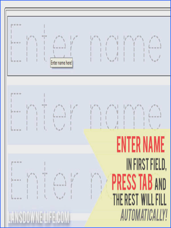 Free Name Tracing Worksheets Unique 27 Name Template for Preschoolers Free Name Tracing