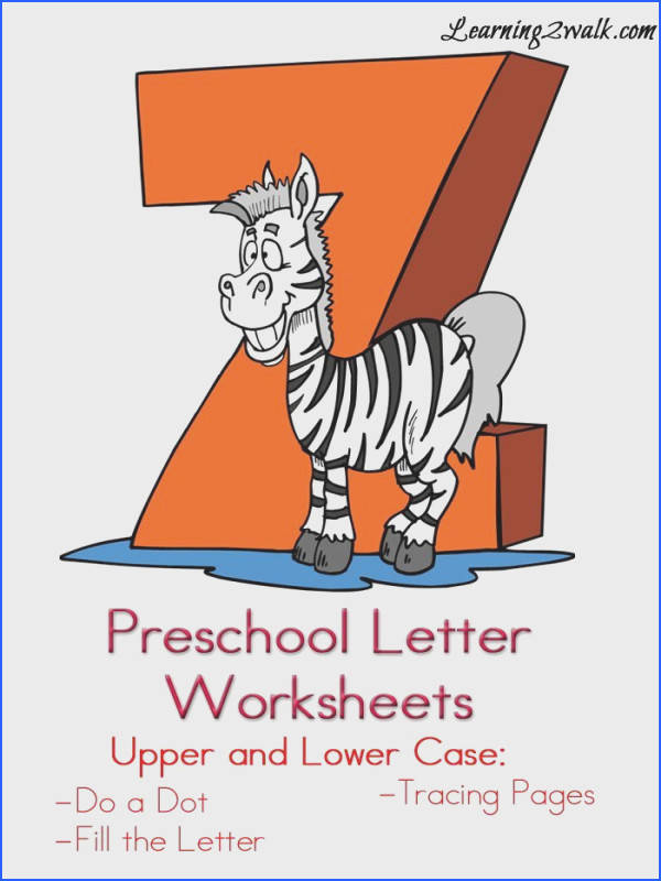Here are some free Preschool Letter Worksheets for the letter Z so that your kids can