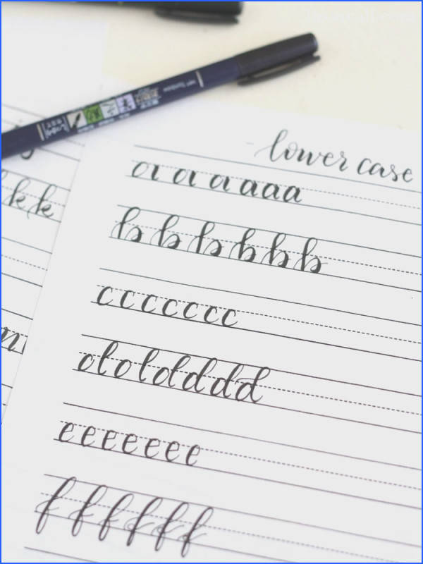 Calligraphy · These free printable hand lettering practice sheets