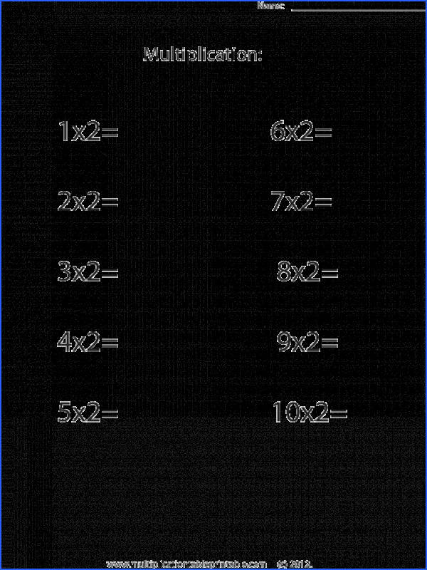 Free Printable Multiplication Worksheets Using Multiples 2 To Teach