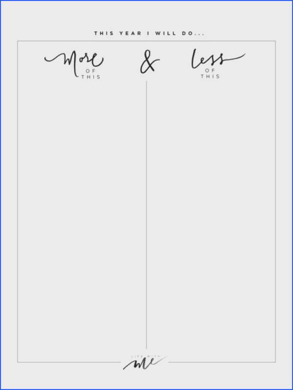 Free Printable New Year s Resolutions Worksheets Life With Me by Marianna Hewitt