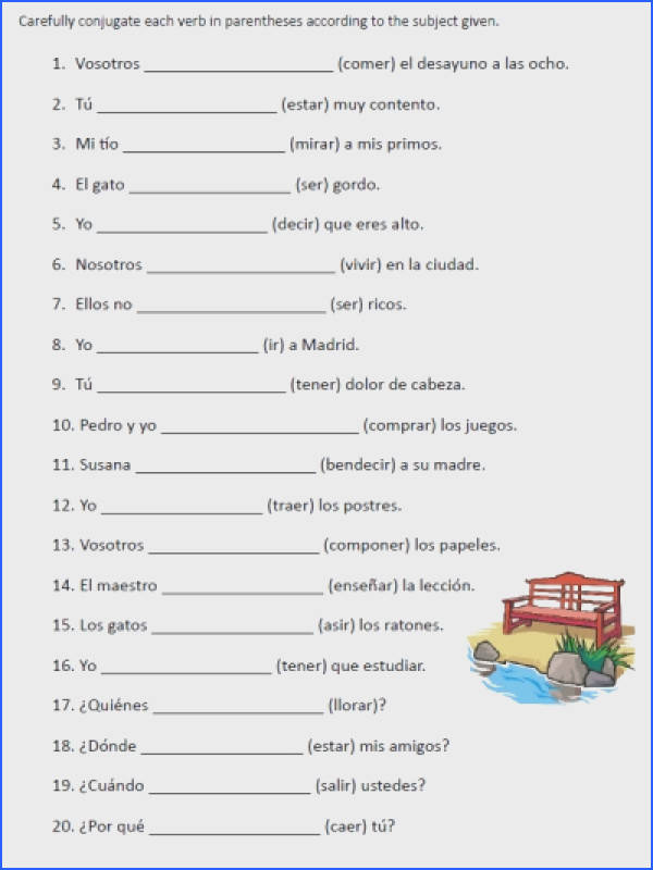 Free Printable Verb Worksheets Worksheets for all Download and Worksheets