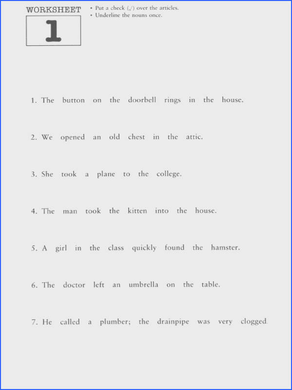 Agreeable Free Printable Worksheets Grammar Grade 1 Also Grammar Worksheets Second Grade Free Worksheets Library