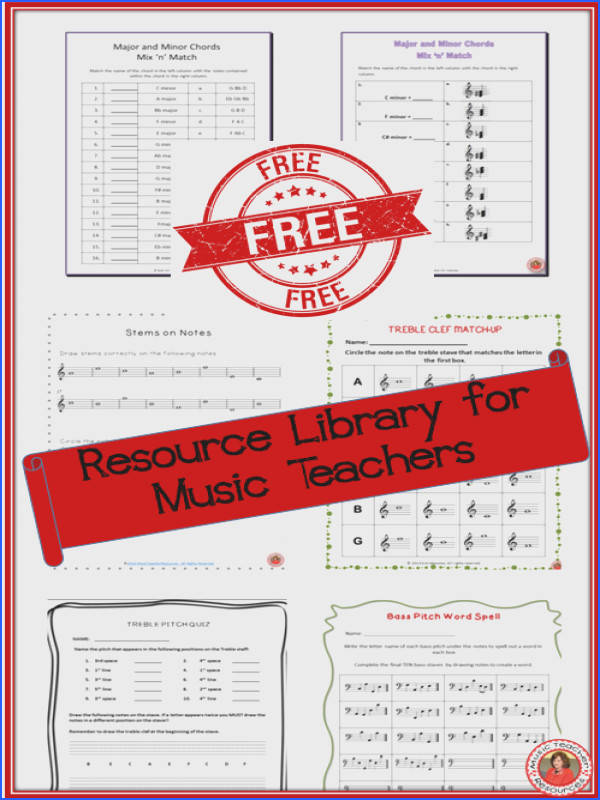 FREE Resource Library for Music Teachers