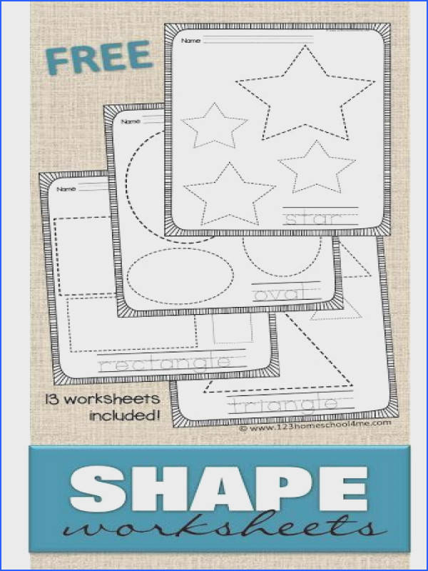 FREE Shape Worksheets help kids practice making shapes and learning their names with these 13