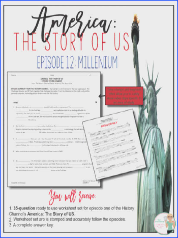 Free social Stu S History Movie Guides Resources & Lesson Image Below America the Story Of Us Worksheets