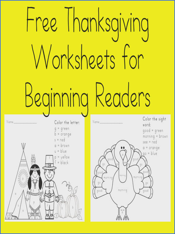 Free Thanksgiving Worksheets for Kids Preschool Kindergarten Fun