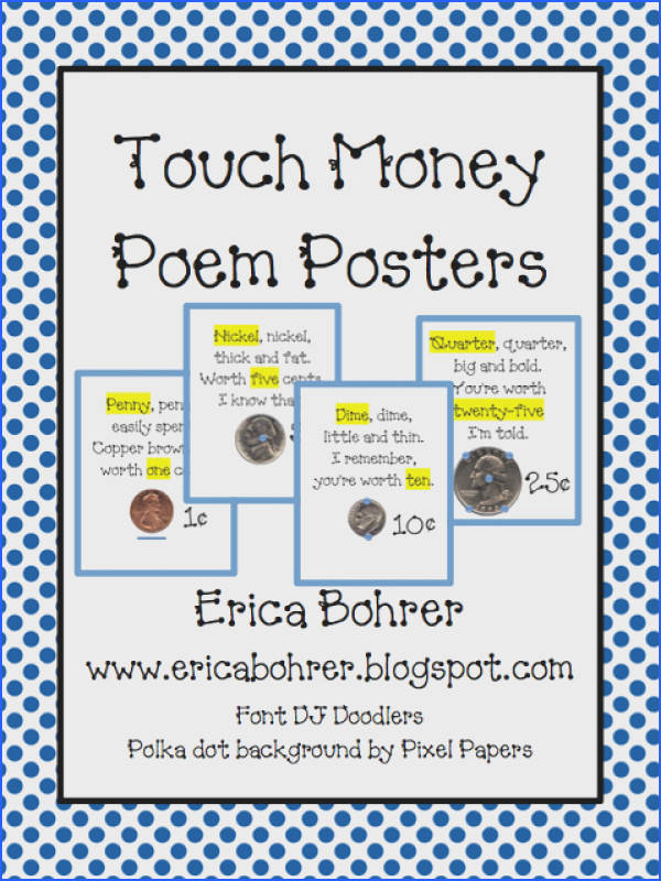 Erica Bohrer s First Grade Touch Math Touch Money Posters
